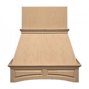 """Air-Pro FDWHAP 30"""" Wood Arched Raised Panel Wall Mounted Range Hood"""