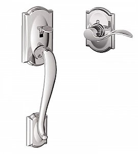 Schlage FE285CAM625ACCCAMLH Camelot Lower Handleset for Electronic Keypad