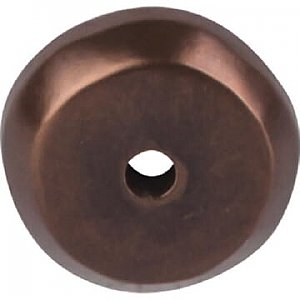 Top Knobs M1458 Aspen Round Backplate 7/8 Inch in Mahogany Bronze