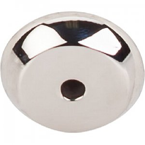 Top Knobs M2025 Aspen II Round Backplate 7/8 Inch in Polished Nickel