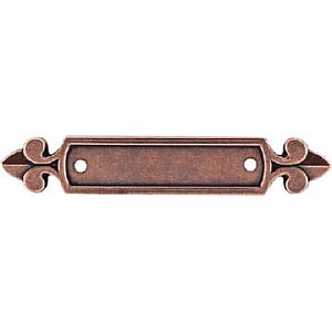 Top Knobs M221 Dover Backplate 2 1/2 Inch in Old English Copper