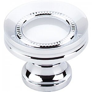 Top Knobs M291 Button Faced Knob 1 1/4 Inch in Polished Chrome