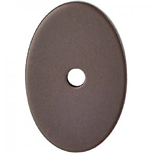 Top Knobs TK60ORB Oval Medium Backplate 1 1/2 Inch in Oil Rubbed Bronze