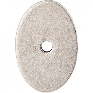 Top Knobs TK60PTA Oval Medium Backplate 1 1/2 Inch in Pewter Antique