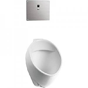 """Toto UT105UG#01 Commercial 1/8 GPF Wall Mounted Urinal with SanaGloss and 3/4"""" Top Spud Inlet"""