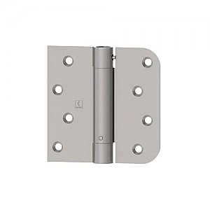 """Hager 1754415 4"""" x 4"""" Full Mortise Residential Duty Steel Square and 5/8"""" Radius Corner Spring Hinges - Pair"""