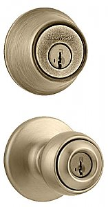Kwikset Polo 695P-5-B Combo Pack Knobset with Double Cylinder Deadbolt
