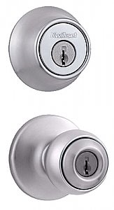 Kwikset 690P-26D-B Polo Knobset Combo Pack with Single Cylinder Deadbolt