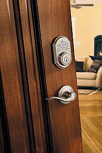 Kwikset 909-S SmartCode Electronic Keyless Entry with Lever