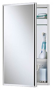Jensen 704301X Meridian Medicine Cabinet with Beveled Mirror and Electrical Outlet