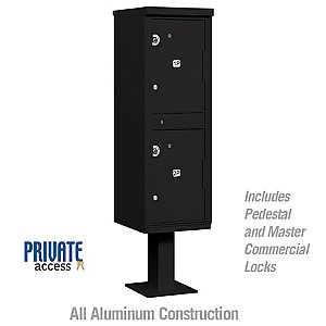 Salsbury 3302BLK-P Outdoor Parcel Locker 2 Compartments Private Access