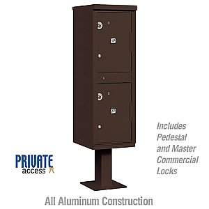 Salsbury 3302BRZ-P Outdoor Parcel Locker 2 Compartments Private Access