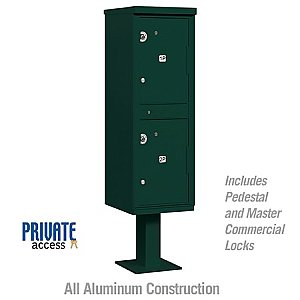Salsbury 3302GRN-P Outdoor Parcel Locker 2 Compartments Private Access