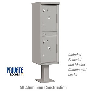 Salsbury 3302GRY-P Outdoor Parcel Locker 2 Compartments Private Access