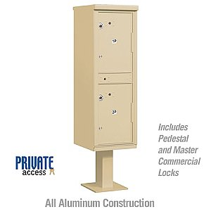 Salsbury 3302SAN-P Outdoor Parcel Locker 2 Compartments Private Access