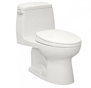 Toto MS854114E#01 Eco UltraMax 1.28GPF One-Piece Elongated Toilet with SoftClose Seat