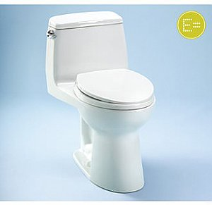 Toto MS854114EL#01 Eco UltraMax 1.28GPF ADA Compliant One-Piece Elongated Toilet with SoftClose Seat